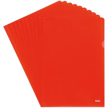 Biella Sichthüllen Advanced, glatt, oben & seitlich offen, rot, Pack à 100 Stück