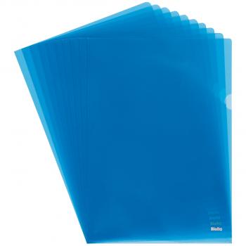 Biella Sichthüllen Advanced, glatt, oben & seitlich offen, blau, Pack à 100 Stück