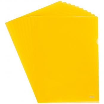 Biella Sichthüllen Advanced, glatt, oben & seitlich offen, gelb, Pack à 100 Stück