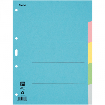 Biella Kartonregister Blanko 5-teilig, blau