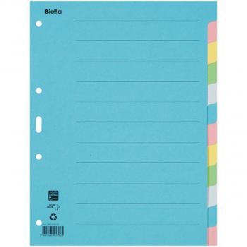 Biella Kartonregister Blanko 12-teilig, blau