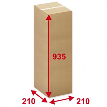 Kartonschachteln braun, 210 x 210 x 935 mm