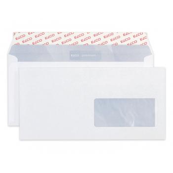 ELCO Briefumschläge Premium C5/6 229 x 114 mm, hochweiss, Fenster links, Pack à 500 Stück