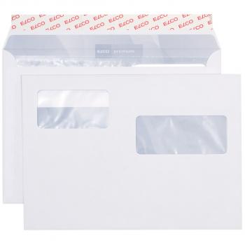 ELCO Briefumschläge Premium C5 229 x 162 mm, hochweiss, Fenster rechts/links, Pack à 500 Stück