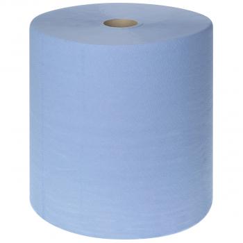 Wepa Recycling-Reinigungsrolle 3-lagig (Maxi), blau, 36.5 cm x 350 m