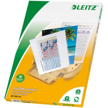 100 LEITZ Laminiertaschen für Format A3 (303 x 426 mm), 2 x 80 Mikron
