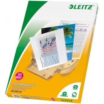 100 LEITZ Laminiertaschen für Format A3 (303 x 426 mm), 2 x 125 Mikron