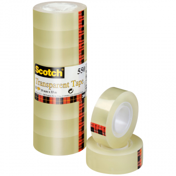 Scotch Klebeband 550, 19 mm x 33 m, 8 Rollen