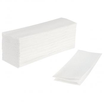 Papierhandtücher 3-lagig, hochweiss, W-Falzung, Karton à 2'300 Stück