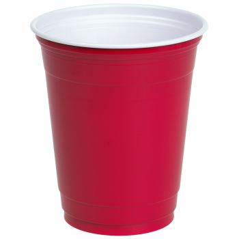 Einwegbecher für Inhalt 473 ml, rot, Pack à 50 Stück