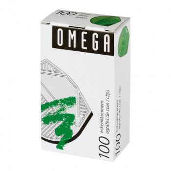 OMEGA Eckenklammern, grün, Pack à 100 Stück