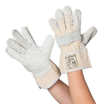 Rindvollleder Handschuhe natur, Grösse 9 , 1 Paar