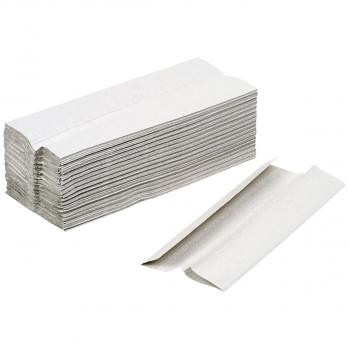 oeco-swiss Recycling-Papierhandtücher 1-lagig, grau, C-Falzung, Karton à 3'648 Stück