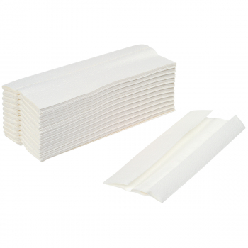 oeco-swiss Papierhandtücher 3-lagig, hochweiss, C-Falzung, Karton à 2'304 Stück