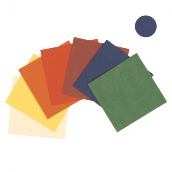Servietten blau, 3-lagig, 24 x 24 cm, 1/4 Falz, randgeprägt, Karton à 2'000 Stück