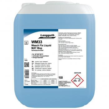 Vollwaschmittel Wasch Fix Liquid Mat Mop WM33, Kanister mit 10 Liter