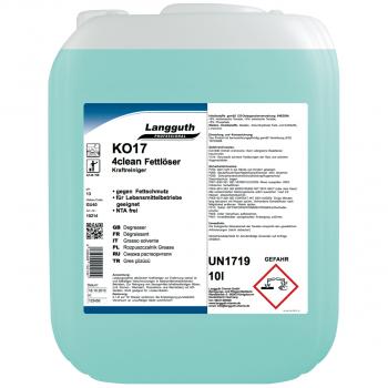 Fettlöser 4clean KO17, Kanister mit 10 Liter