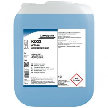 Alkoholreiniger 4clean KO33, Kanister mit 10 Liter