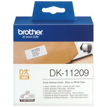 800 brother Etiketten DK-11209 weiss, 29 mm x 62 mm
