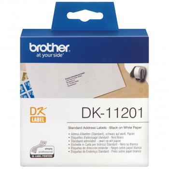 400 brother Etiketten DK-11201 weiss, 29 mm x 90 mm
