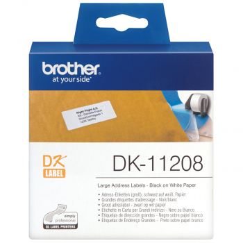 400 brother Etiketten DK-11208 weiss, 38 mm x 90 mm