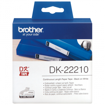 brother Endlosetikett DK-22210 weiss, 29 mm x 30.48 m