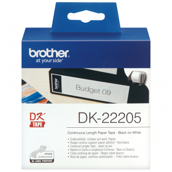 brother Endlosetikett DK-22205 weiss, 62 mm x 30.48 m