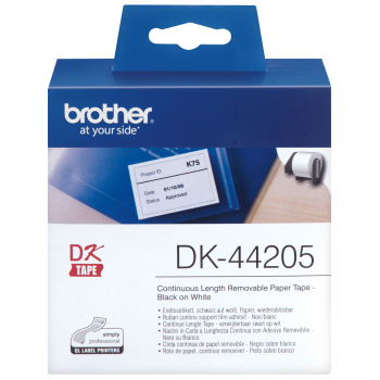 brother Endlosetikett DK-44205 weiss, 62 mm x 30.48 m