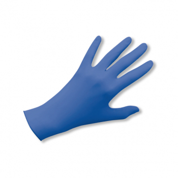 Latex-Einweghandschuhe puderfrei blue, Grösse M, Box à 100 Stück