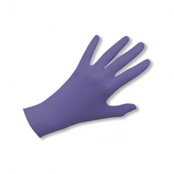 Latex-Einweghandschuhe puderfrei lila, Grösse M, Box à 100 Stück