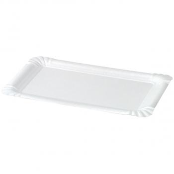 Einweg-Teller aus Karton weiss, 20 x 13 cm, Pack à 250 Stück