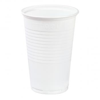 Einwegbecher für Inhalt 200 ml, weiss, Pack à 100 Stück
