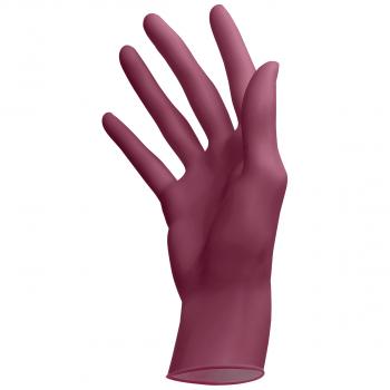 Latex-Einweghandschuhe puderfrei burgundy, Grösse XS, Box à 100 Stück