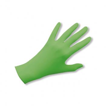 Latex-Einweghandschuhe puderfrei fresh green, Grösse M, Box à 100 Stück