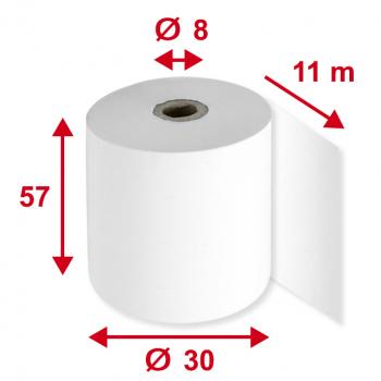 Thermorollen 57 mm x 11 m, Pack à 5 Stück