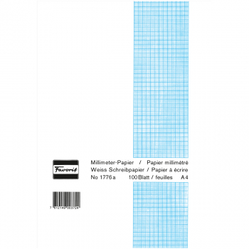 Favorit Millimeterpapier-Block, weiss
