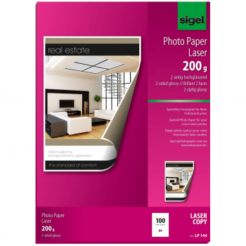 sigel Photo Paper Laser, 200 g/m² in A4, Pack 100 Blatt