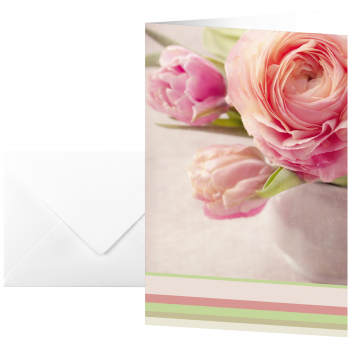 sigel Grusskarten Tender Rose, Pack à 10 Stück inkl. 10 weisse Umschläge