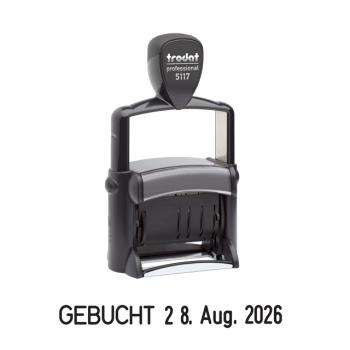 trodat Wortbandstempel mit Datum 5117 deutsche Version