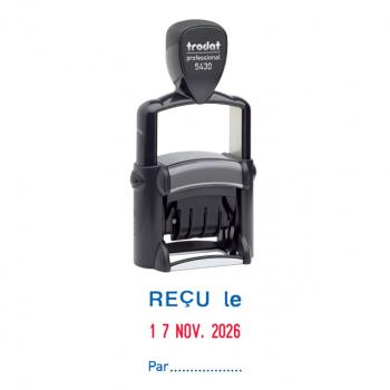 trodat Wortbandstempel mit Datum 5430 französische Version