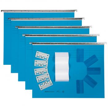 Biella Original Hängemappen inkl. Zubehör, blau, Pack à 5 Stück