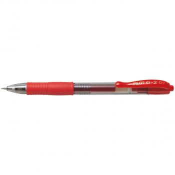 PILOT Gelschreiber G-2 0.4 mm, Schreibfarbe rot
