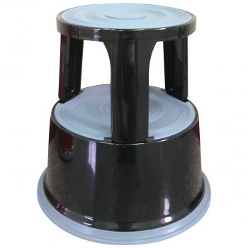 Rollhocker aus Metall mit Kunststoffüberzug