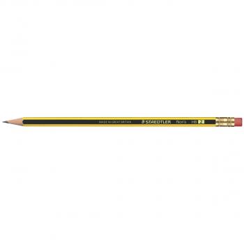 Staedtler Bleistift NORIS 122 HB mit Gummitip