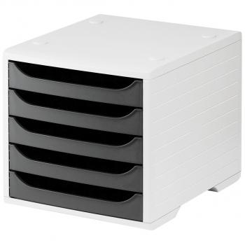 styro Schubladenbox styrobox, lichtgrau/anthrazit