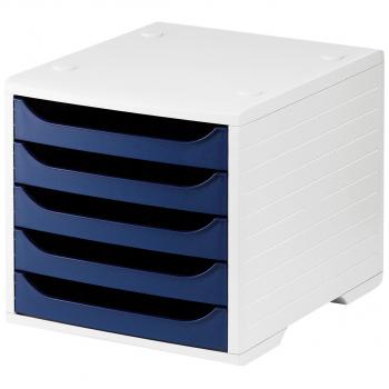 styro Schubladenbox styrobox, lichtgrau/blau
