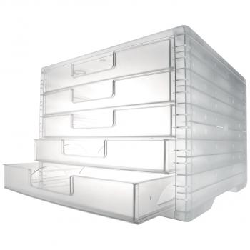 styro Schubladenbox lightbox, transparent