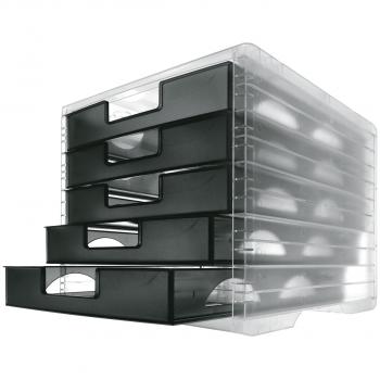styro Schubladenbox lightbox, anthrazit