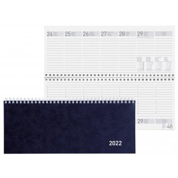 Biella Pultagenda Seplana 2022, 29.8 x 11.7 cm, blau, 1 Woche auf 2 Seiten, viersprachig