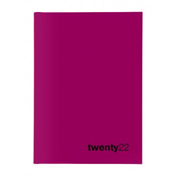 Biella Geschäftsagenda Colorful 2022, 14.5 x 20.5 cm, pink, 1 Woche auf 2 Seiten, viersprachig